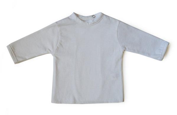 Бебешка камизолка със задно закопчаване с дълъг ръкав /бяло трико/